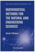 MATHEMATICAL METHODS FOR THE NATURAL & ENGINEERING SCIENCES 2004 9812387501 9789812387509